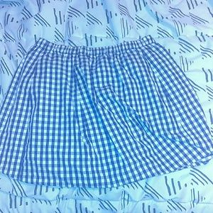 J. Crew size XS Navy and white gingham skirt